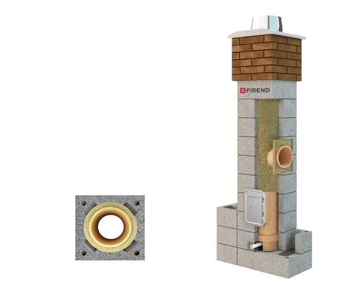 schornstein bausatz system firend universal dn  mm